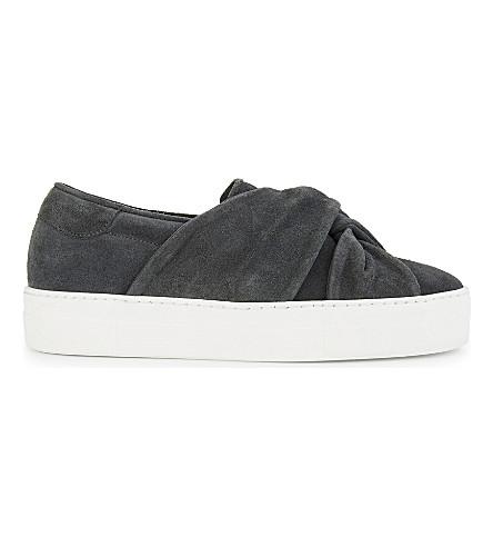 MAJE 打结麂皮绒高帮运动鞋 (灰色
