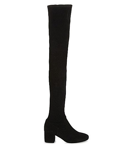 MAJE Fuisy suede thigh boots (Black+210