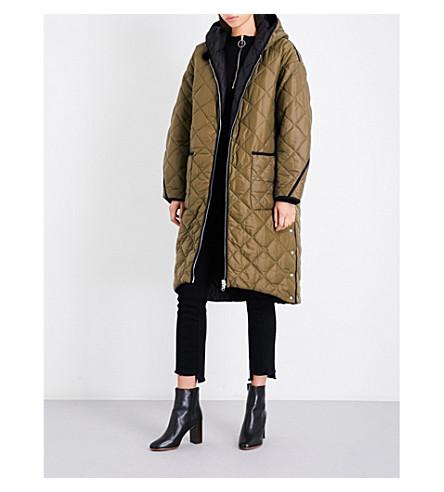 MAJE Gabony reversible quilted coat (Khaki/olive