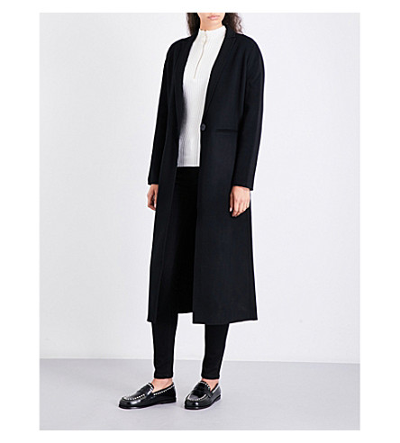 MAJE Galaxie wool-blend coat (Black+210