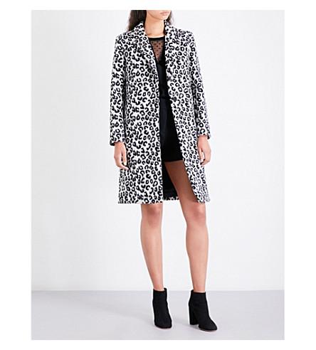 MAJE Garouny leopard-pattern wool-blend coat (Print
