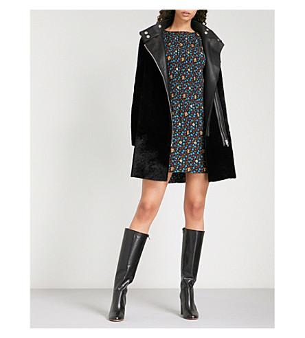 MAJE Gibson shearling coat (Black