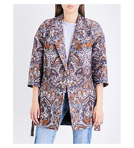 MAJE Gimane jacquard coat (Jacquard