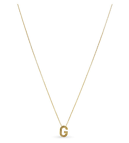 MAJE 'G' pendant necklace (Or