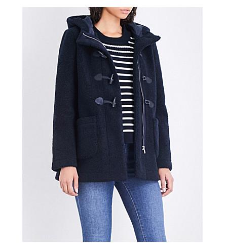MAJE Givry oversized faux-shearling coat (Blue