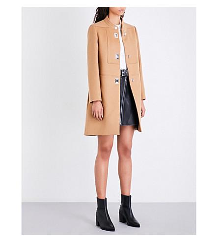 MAJE Godiva high-neck 羊毛和羊绒混纺大衣 (谭