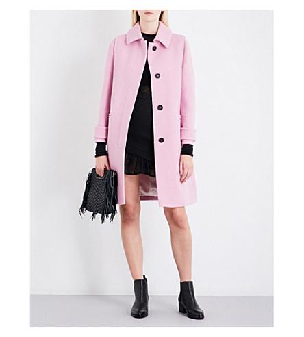 MAJE Guepy single-breasted wool-bouclé coat (Rose