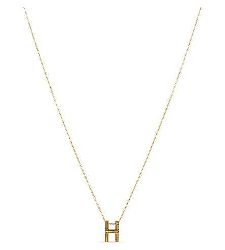 MAJE 'H' pendant necklace (Gold