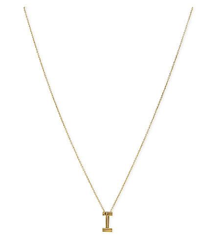 MAJE 'I' pendant necklace (Gold