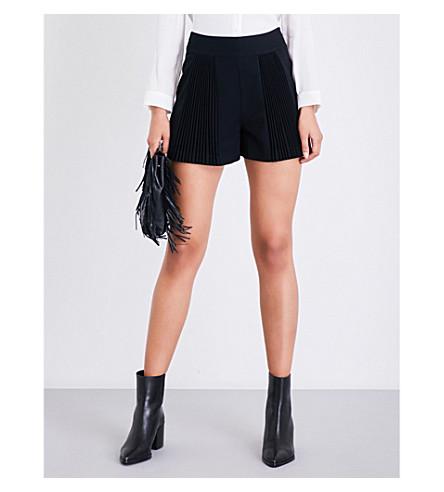 MAJE Ipariso high-rise crepe shorts (Black