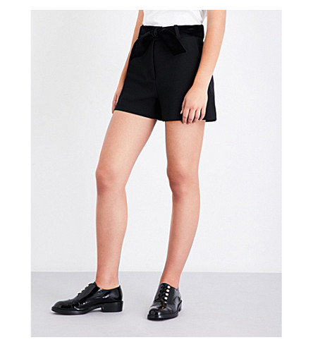 MAJE Paris crepe short (Black+210