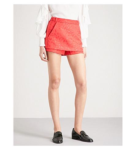 MAJE Pop leopard-print jacquard shorts (Jacquard