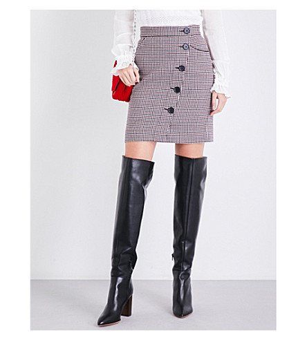 MAJE Jasali houndstooth tweed skirt (Multi-coloured
