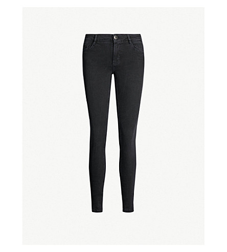 MAJE Jaw skinny low-rise jeans (Anthracite