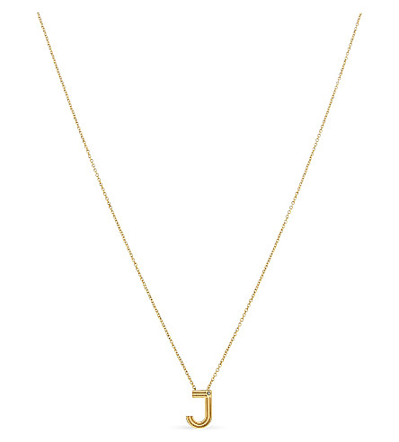 MAJE 'J' pendant necklace (Gold