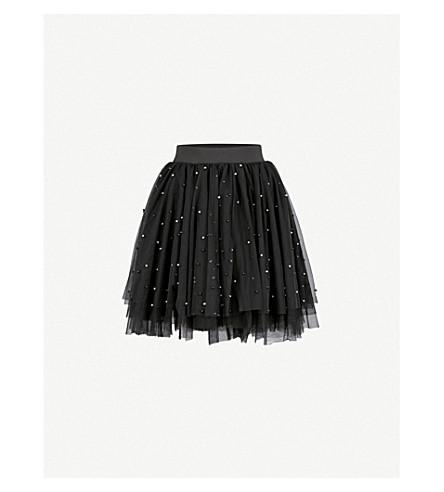 MAJE Jodia bead-embellished tulle skirt (Black