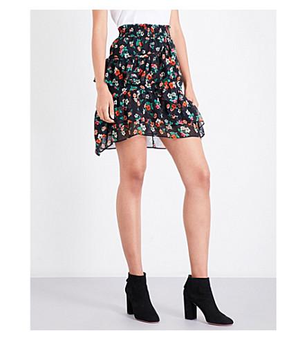 MAJE Jolanti floral-print chiffon skirt (Print