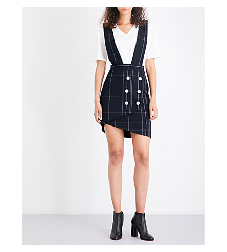 MAJE Jola gabardine pinafore dress (Navy