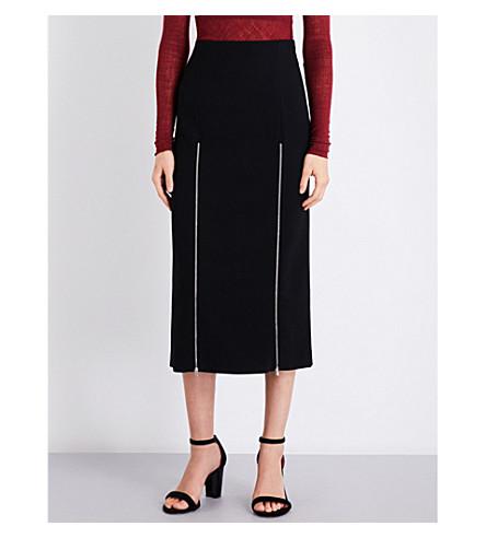 MAJE Jona crepe midi skirt (Black+210