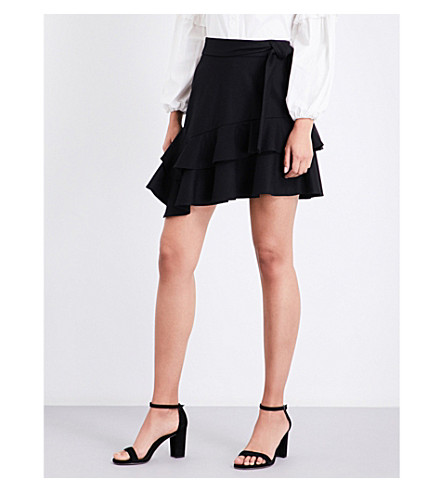 MAJE Jork stretch-wool skirt (Black+210