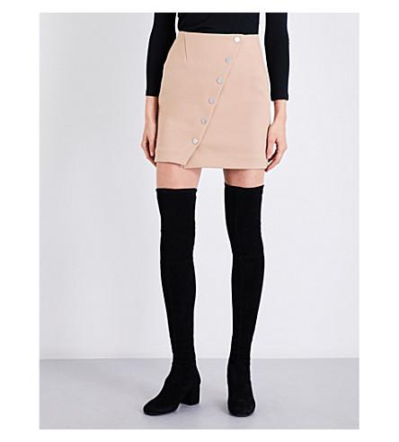 MAJE Justine crepe skirt (Camel