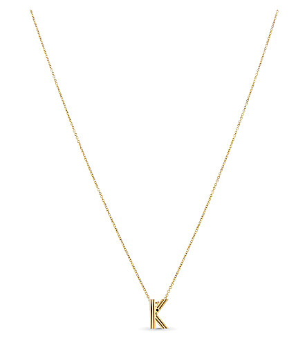MAJE 'K' pendant necklace (Gold