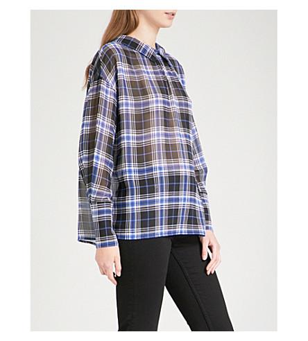 MAJE Lancha check chiffon blouse (Printed