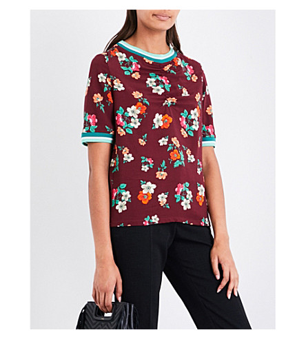 MAJE Liatis floral-print T-shirt (Print