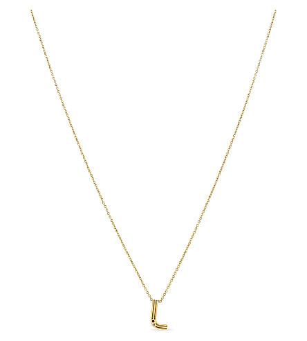 MAJE 'L' pendant necklace (Gold