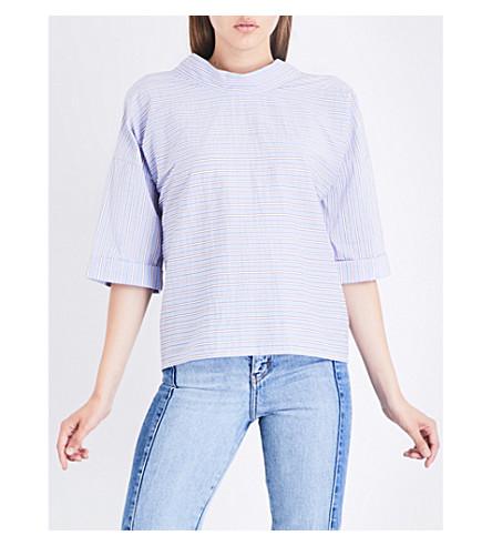 MAJE Lopa cotton-blend top (Blue