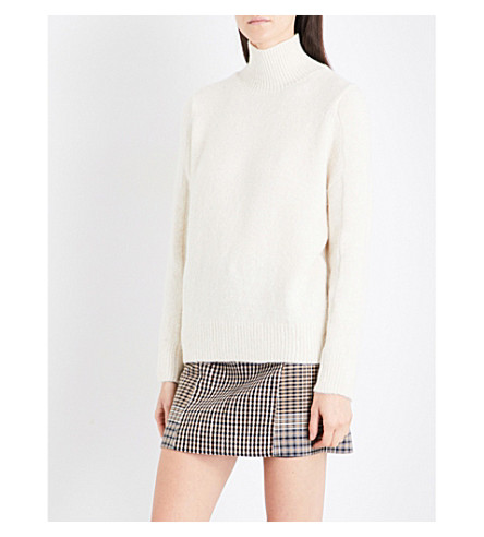 MAJE Malou turtleneck fine-knit jumper (Cream