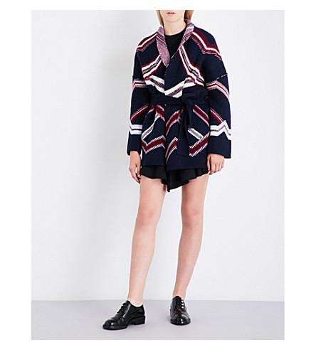 MAJE Marcozi wool-blend cardigan (Navy
