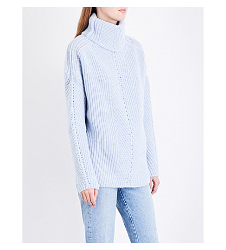 MAJE Matignon turtleneck knitted jumper (Blue