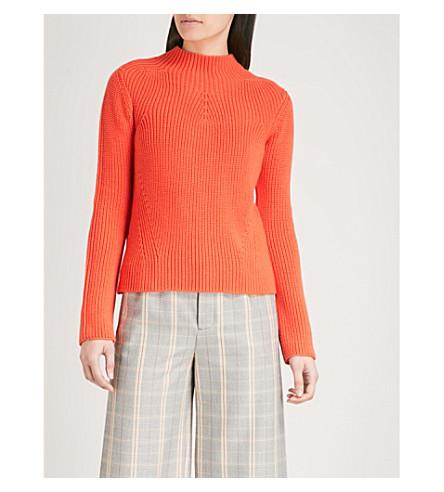 MAJE Metal knitted jumper (Orange