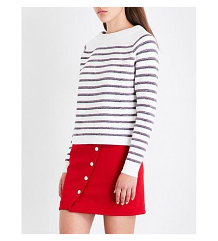 MAJE Millau wool-blend jumper (Ecru