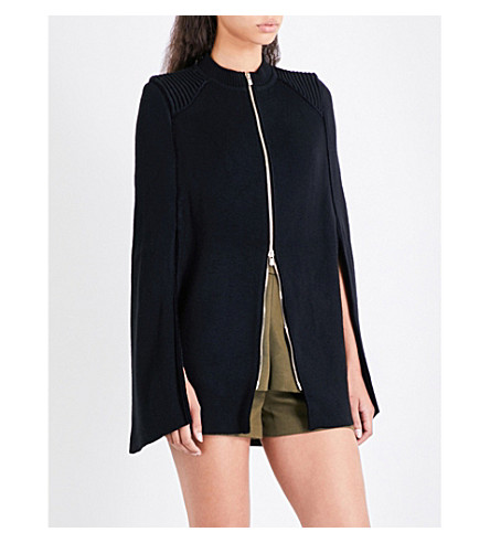 MAJE Milord piping-detail zipped cardigan (Black+210