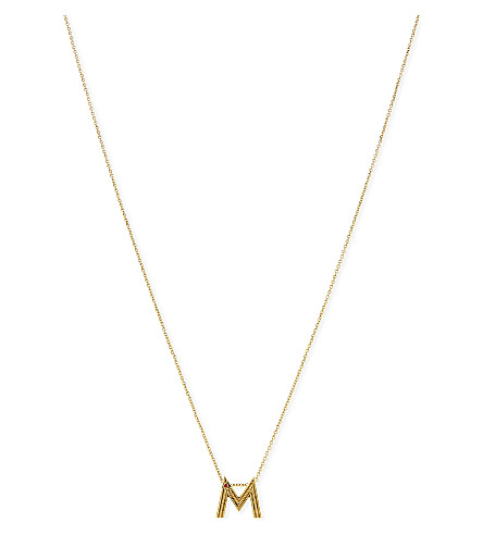 MAJE 'M' initial pendant necklace (Gold