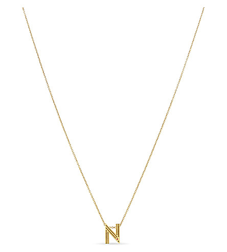 MAJE 'N' pendant necklace (Gold