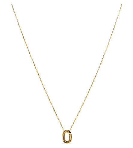 MAJE 'O' pendant necklace (Gold
