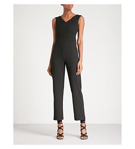 MAJE Pama V-neck crepe jumpsuit (Black
