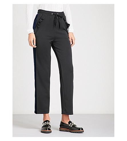 MAJE Pampa stretch-crepe trousers (Black