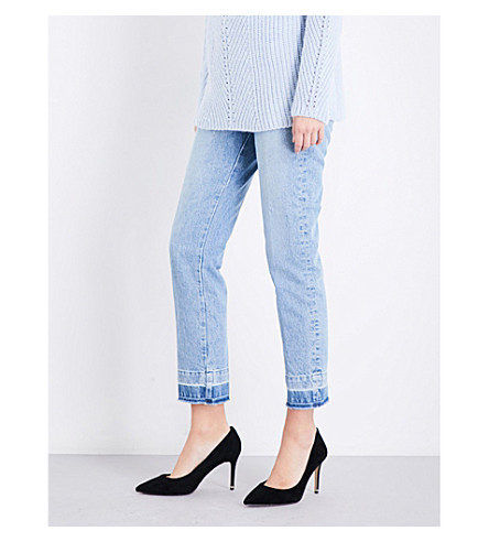 MAJE Parazar straight cropped high-rise jeans (Blue