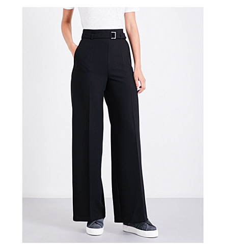 MAJE Parc wide-leg crepe trousers (Black+210