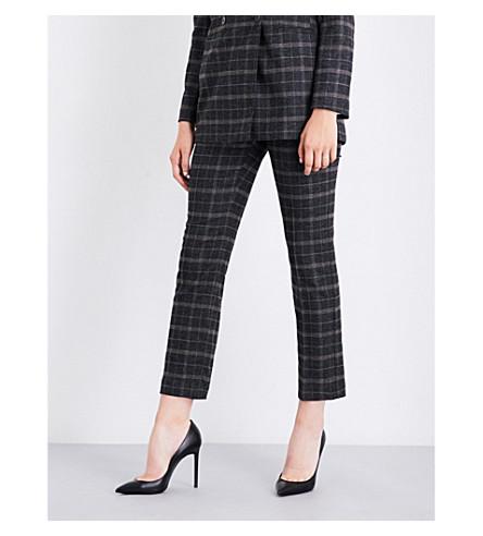MAJE Pasili wool-blend trousers (Jacquard