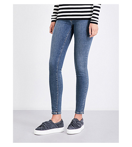 MAJE Paska skinny low-rise jeans (Blue