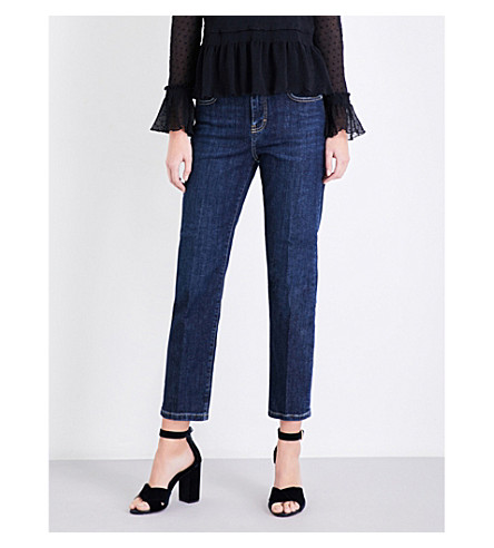 MAJE Pippou straight high-rise jeans (Blue