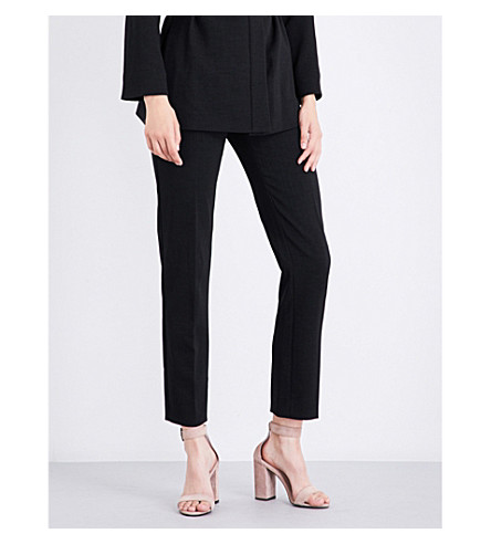 MAJE Preni straight crepe trousers (Black+210