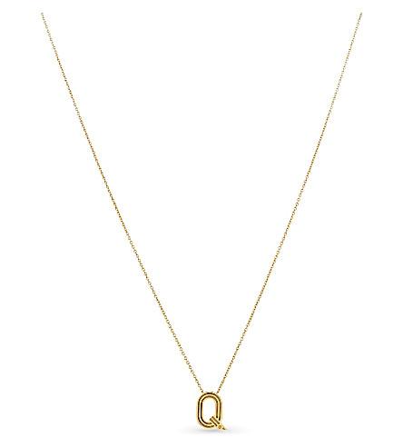 MAJE 'Q' pendant necklace (Gold