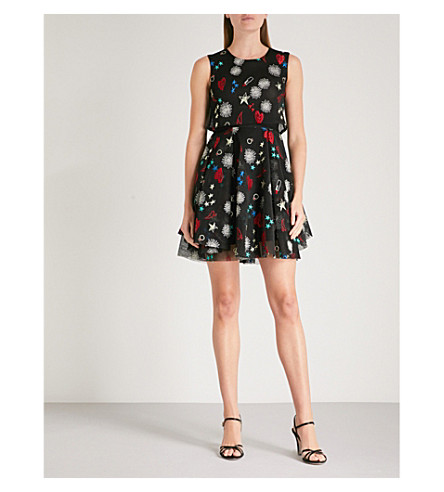 MAJE Rachel embroidered dress (Multi-coloured