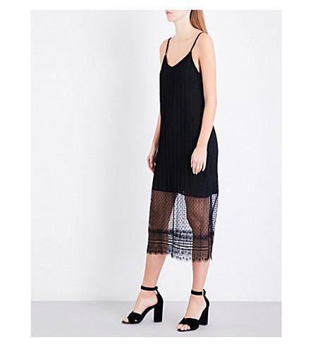 MAJE Raelys lace slip dress (Black